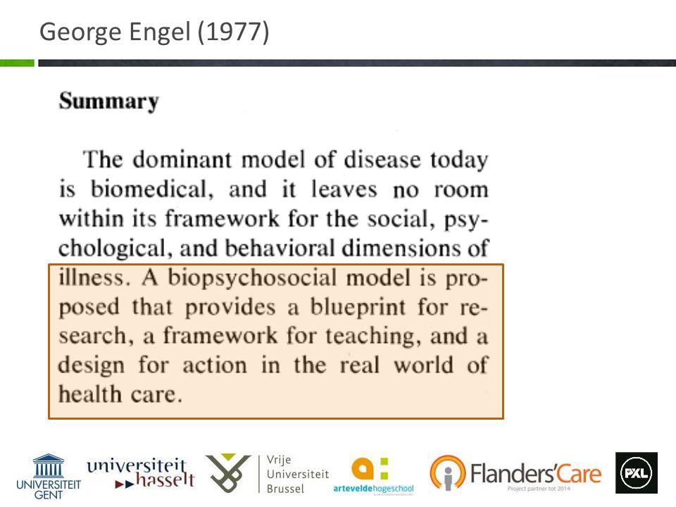 Borrel- Carrio et at 2004 Het Bio-Psycho-Sociaal model daagt uit tot een nieuwe manier van redeneren, maar geen enkel model is volledig geoperationaliseerd.