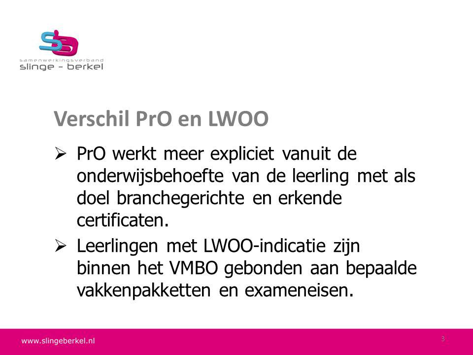 Algemene informatie Indicatiestelling PrO en LWOO bij Vereniging Regionale Verwijzingscommissies VO www.rvc-vo.nlwww.rvc-vo.nl (voor brede algemene info en wettelijke regelingen) 4