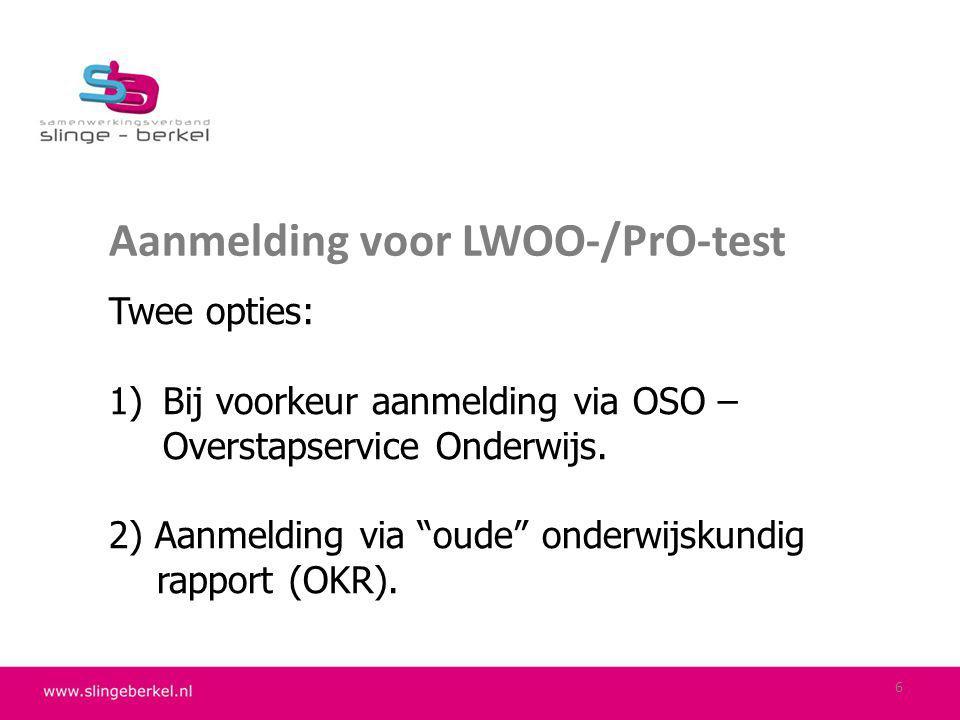 Ad 1)Aanmelden via OSO  PO-school mailt OSO-aanmeldingsformulier naar mailadres VO-school.