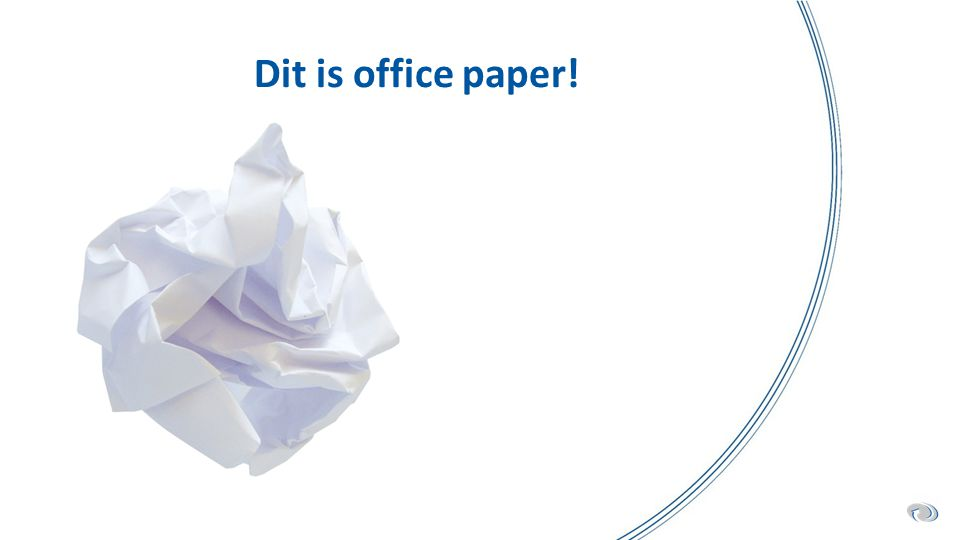Dit is office paper!