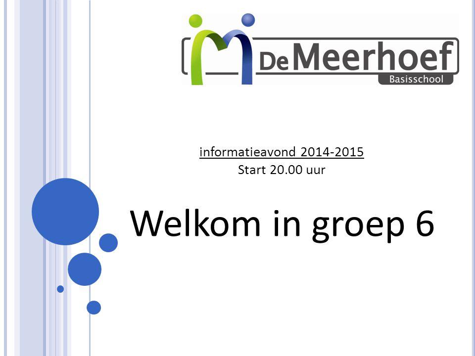 informatieavond 2014-2015 Start 20.00 uur Welkom in groep 6