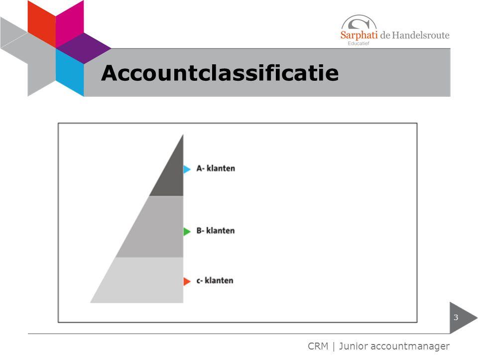 Accountclassificatie 3 CRM | Junior accountmanager
