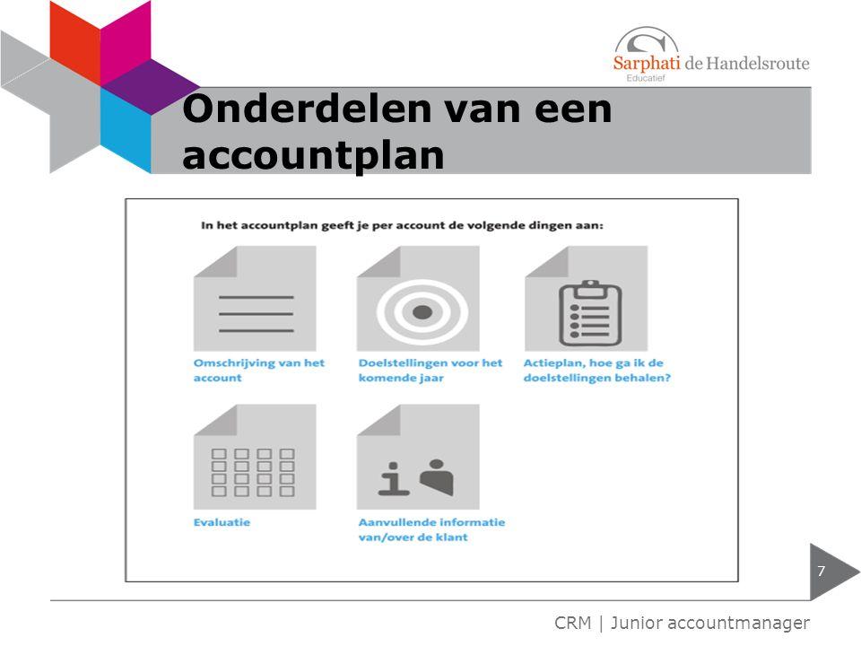 Onderdelen van een accountplan 7 CRM | Junior accountmanager