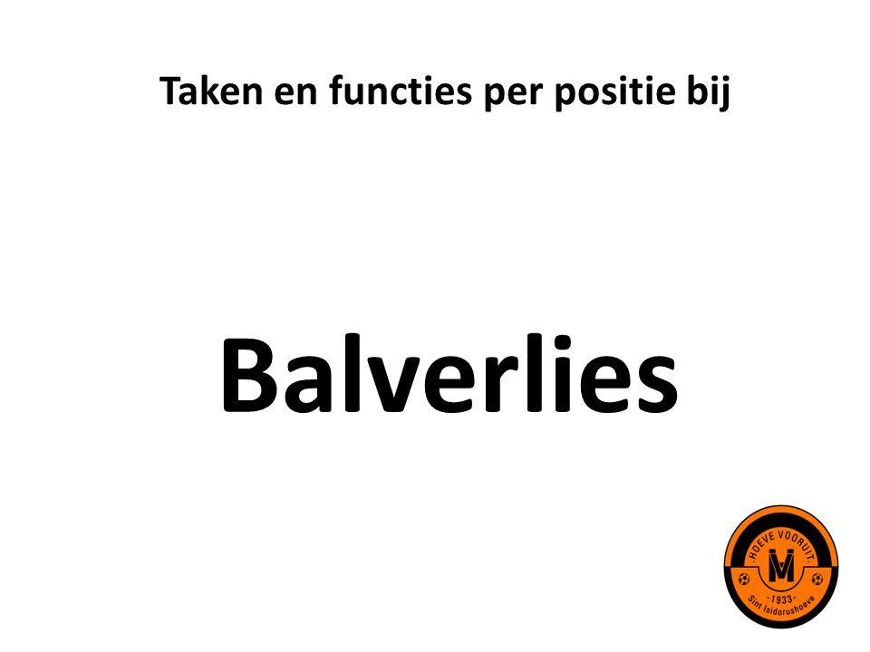Taken en functies per positie bij Balverlies