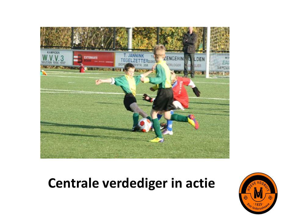Centrale verdediger in actie