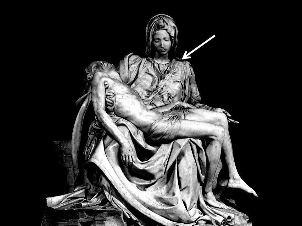 De Pieta - Moeder van Smarten (1,74 m x 1,94 m) werd gebeeldhouwd rond 1498-99.