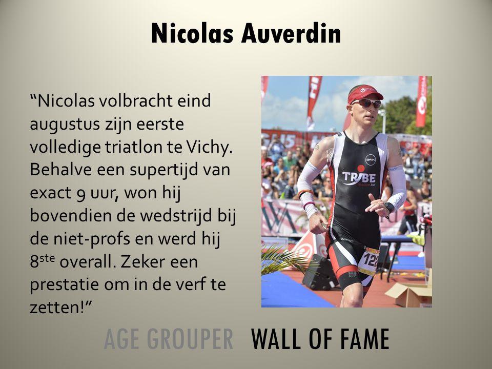 Nicolas volbracht eind augustus zijn eerste volledige triatlon te Vichy.