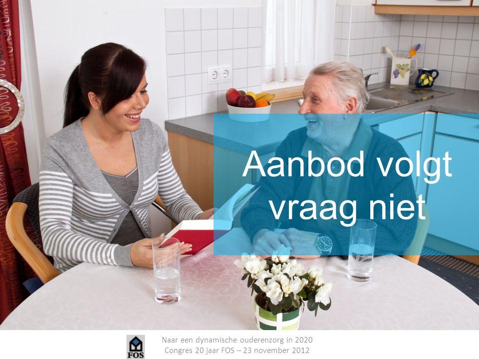 Naar een dynamische ouderenzorg in 2020 Congres 20 jaar FOS – 23 november 2012 Aanbod volgt vraag niet