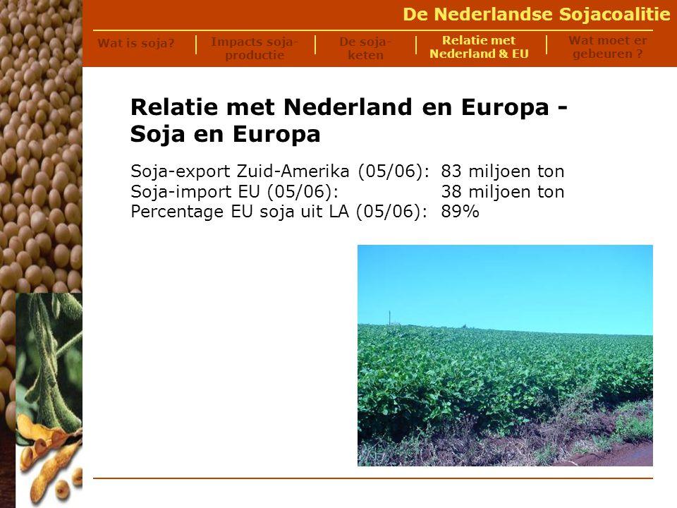 De Nederlandse Sojacoalitie Nederland is de op één na grootste importeur van soja.