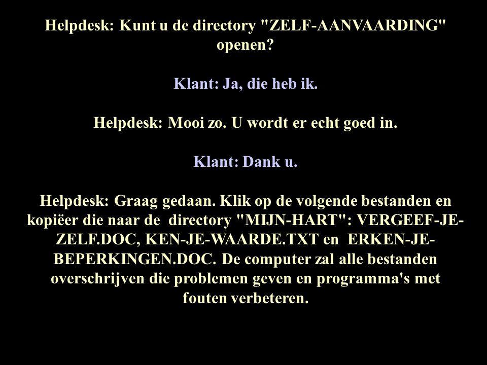 Helpdesk: Kunt u de directory