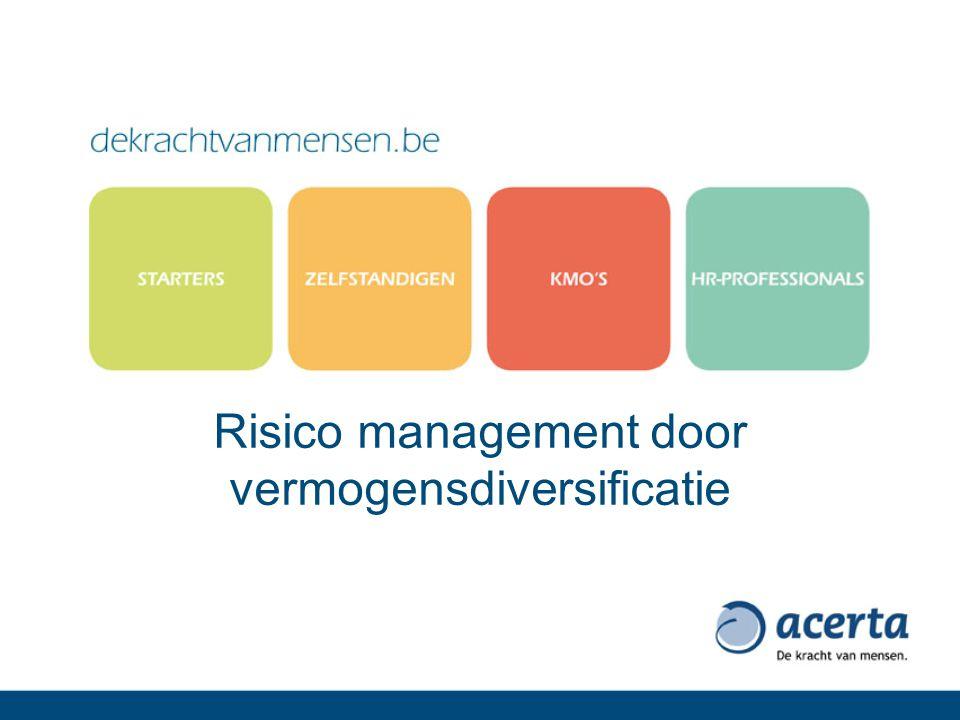 Risico management door vermogensdiversificatie