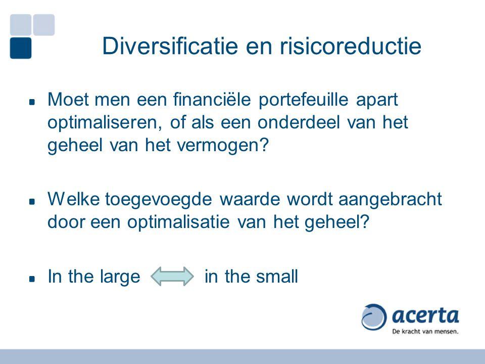 Moet men een financiële portefeuille apart optimaliseren, of als een onderdeel van het geheel van het vermogen.
