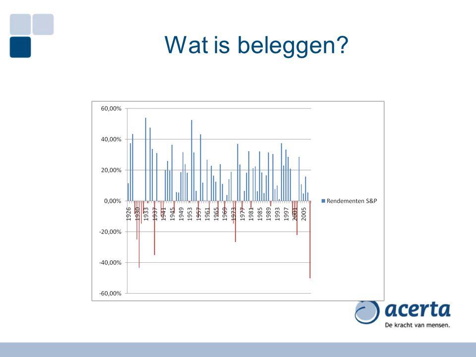 Principes van optimalisatie AA in the small Beleggingen AA in the large Beleggingen Woning Verhuurd vastgoed Verzekeringen Zaak
