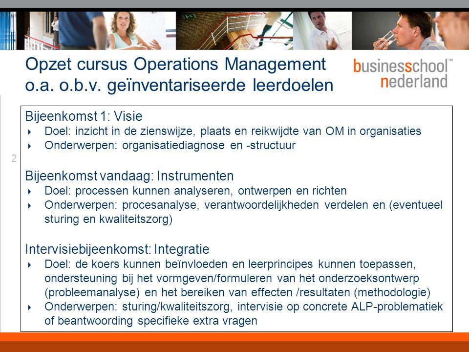 2 Opzet cursus Operations Management o.a.o.b.v.