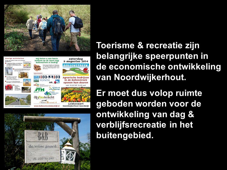 Toerisme & recreatie zijn belangrijke speerpunten in de economische ontwikkeling van Noordwijkerhout. Er moet dus volop ruimte geboden worden voor de