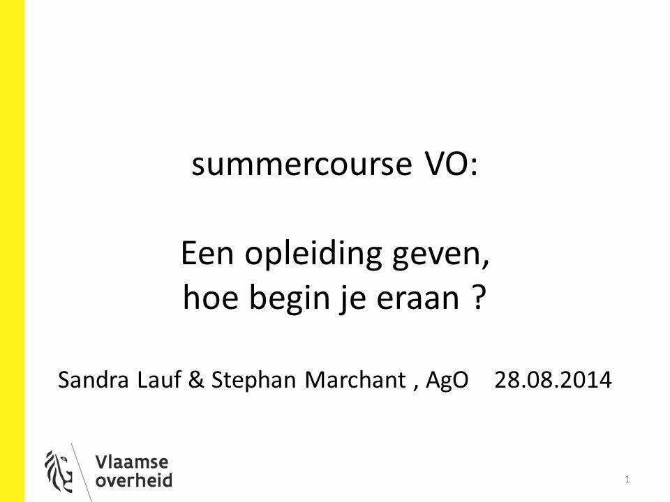 summercourse VO: Een opleiding geven, hoe begin je eraan .