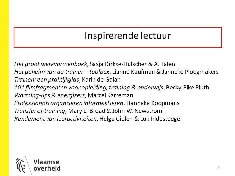 Inspirerende lectuur Het groot werkvormenboek, Sasja Dirkse-Hulscher & A.