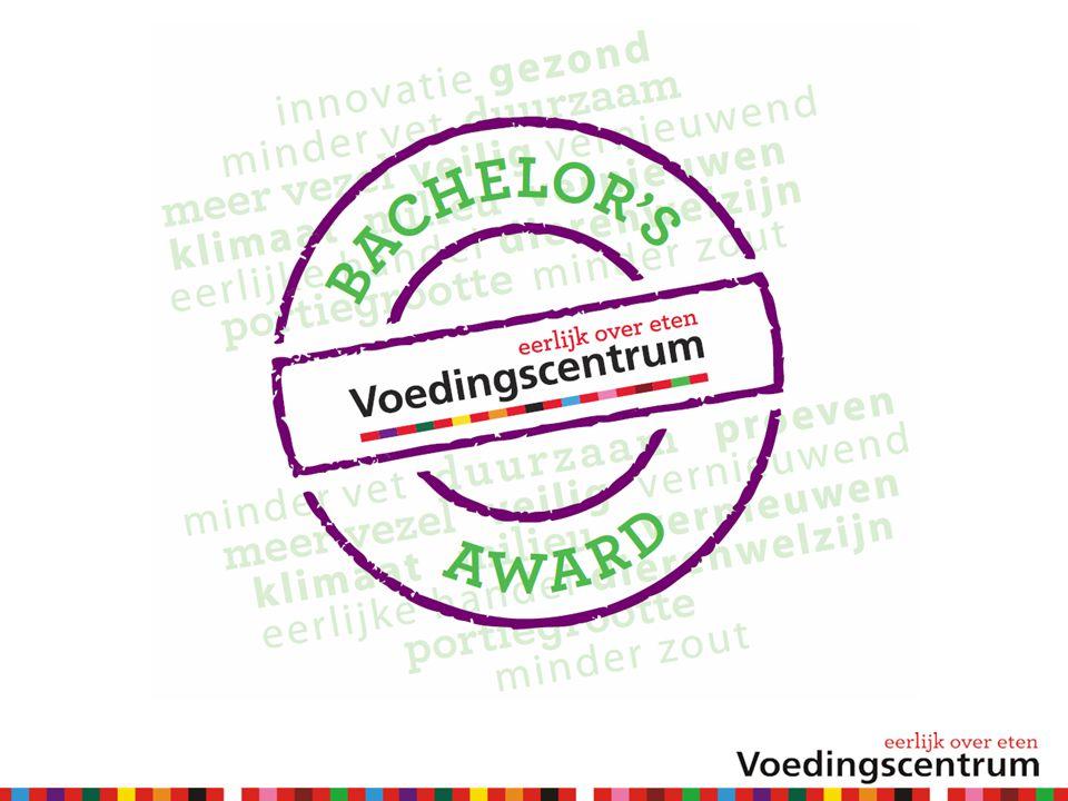 Voedingscentrum Bachelor's Award  Broodbeleg in de voorkeurscategorie.