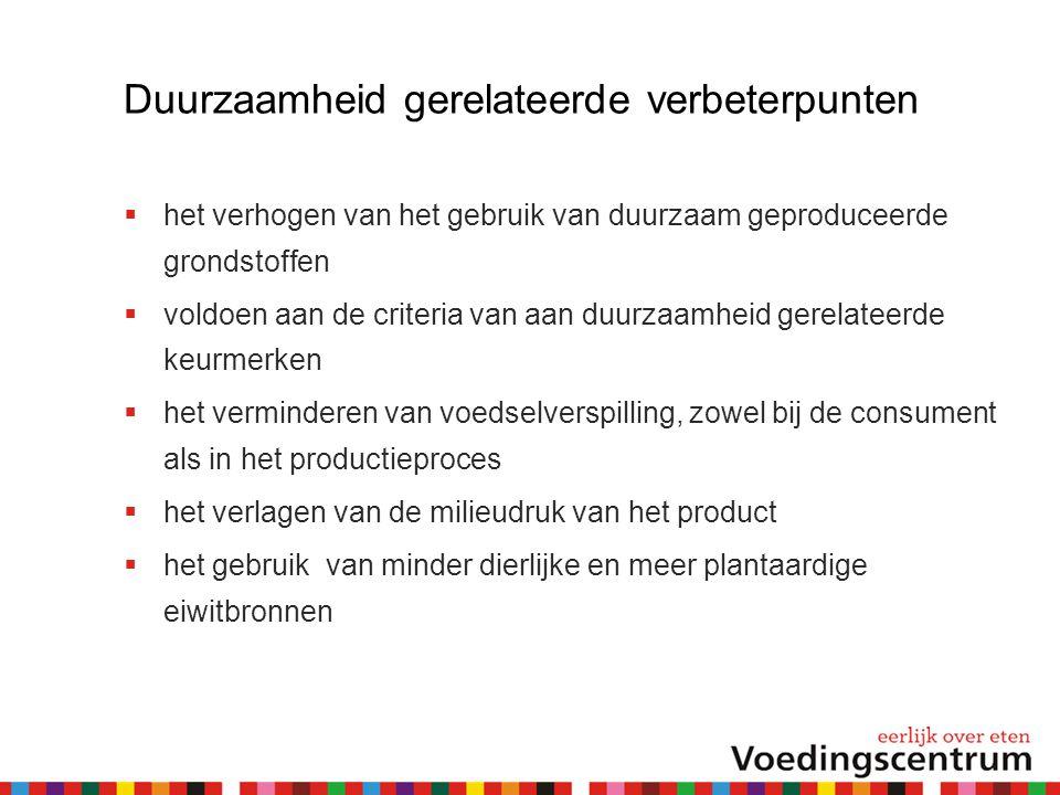 Beoordeling  Inzending wordt beoordeeld door een deskundige jury:  vertegenwoordigers van het ministerie van Volksgezondheid, Welzijn en Sport en het ministerie van Economische Zaken, de levensmiddelenindustrie, de retail, de Consumentenbond en het Voedingscentrum.