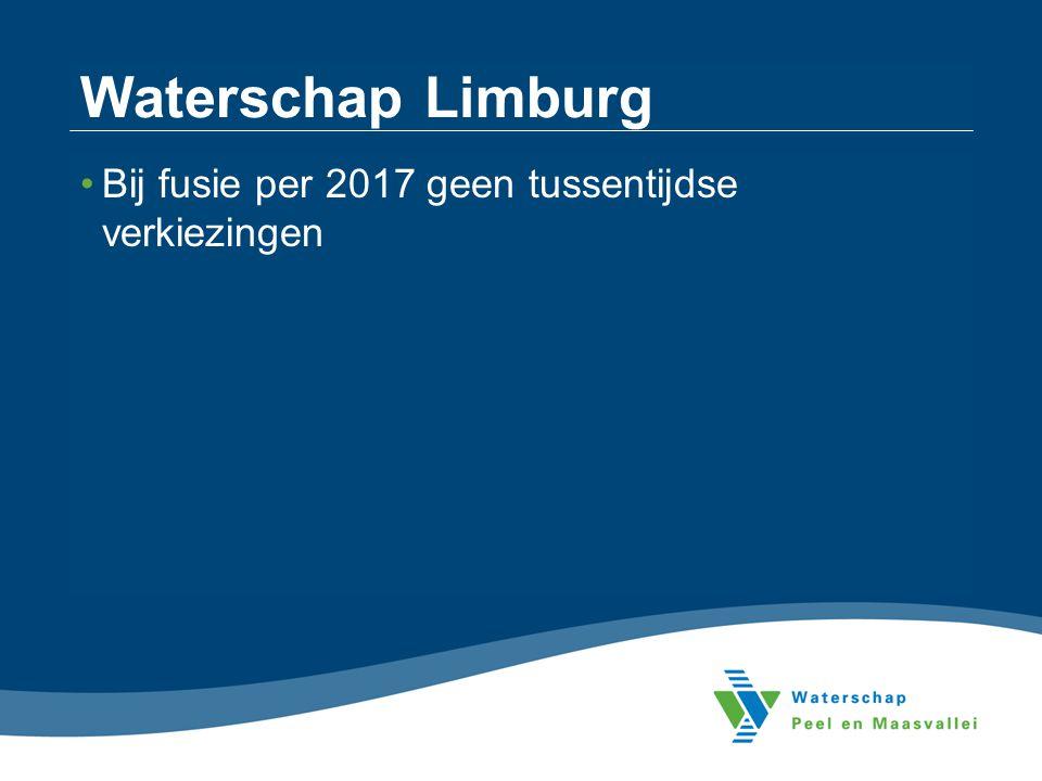 Waterschap Limburg Bij fusie per 2017 geen tussentijdse verkiezingen