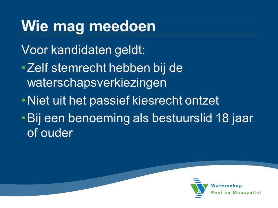 Waterbelang combinatiekiesdeler 48736 : 11 zetels = 4430,55 per zetel 48736 : 6 zetels = 8122,66 per zetel Verdeling zetels binnen Waterbelang - Horst-Helden-Beesel (13834 stemmen) - Venray en Maasduinen (11512 stemmen) - Land van Weert / Leudal (15650 stemmen) - Venlo (7740 stemmen) Restzetels binnen combinatie Waterbelang Totaal 3 2 3 1 2 11 1 0 3 6 Restzetels binnen Waterbelang - Horst-Helden-Beesel - Venray en Maasduinen - Land van Weert / Leudal - Venlo 0 1 0 1 1110 1110