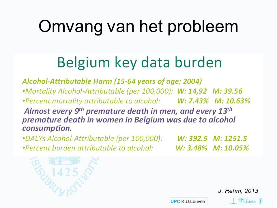 Omvang van het probleem J. Rehm, 2013