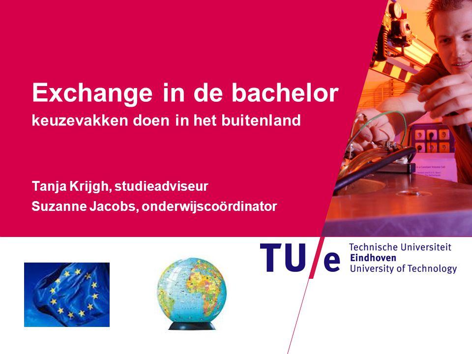 Where innovation starts Exchange in de bachelor keuzevakken doen in het buitenland Tanja Krijgh, studieadviseur Suzanne Jacobs, onderwijscoördinator