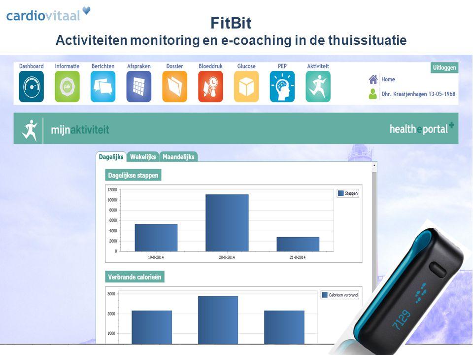 FitBit Activiteiten monitoring en e-coaching in de thuissituatie