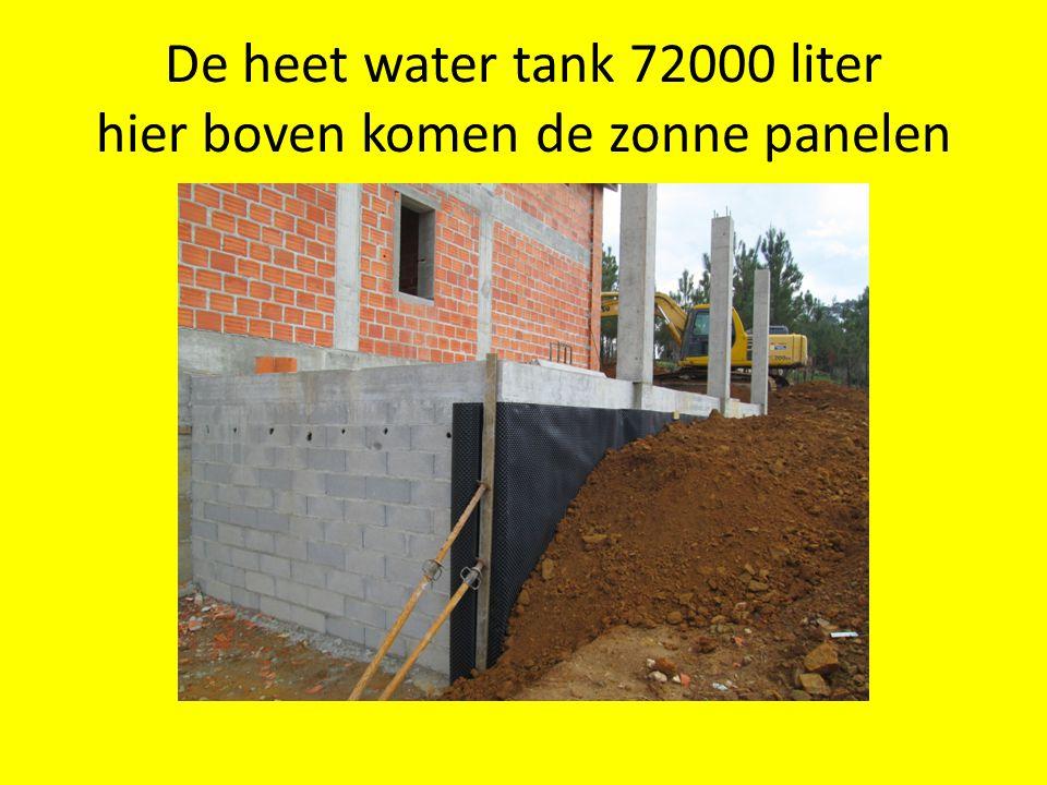 De heet water tank 72000 liter hier boven komen de zonne panelen