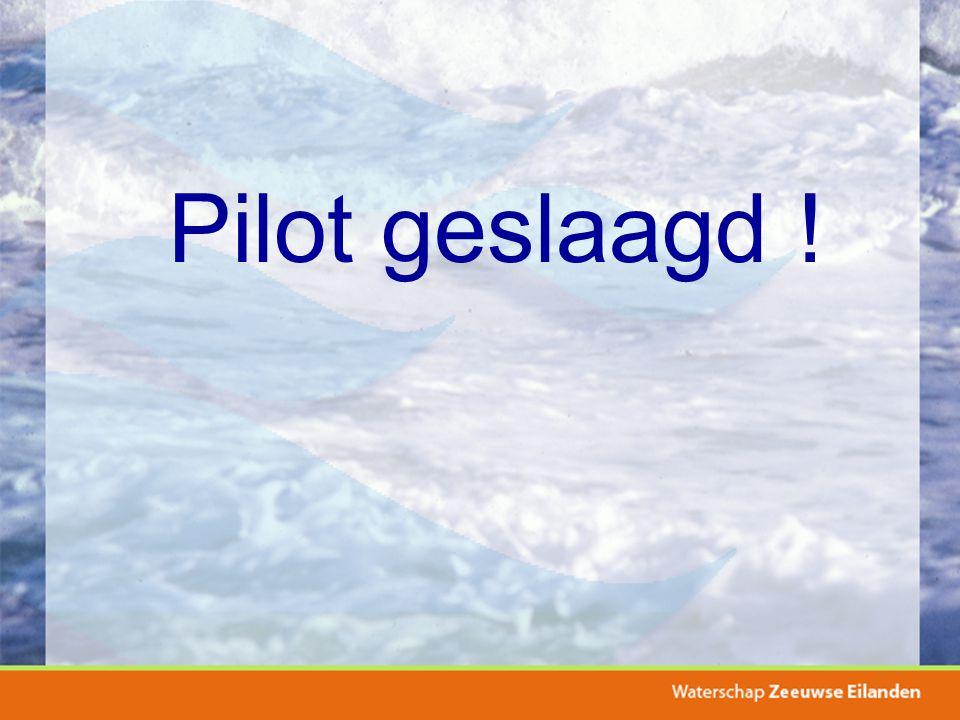 Pilot geslaagd !