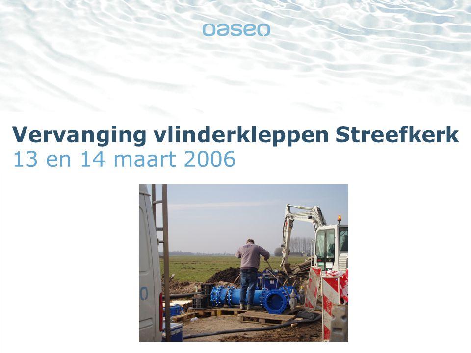 21-11-2014 |2 Nieuwe kleppen Op 13 en 14 maart verving een team monteurs van Oasen zeven vlinderkleppen in het leidingnet in de buurt van Streefkerk.