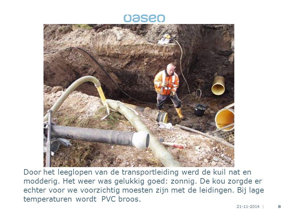 21-11-2014 |9 We brengen met stuurmanskunst de nieuwe verbinding op zijn plaats.