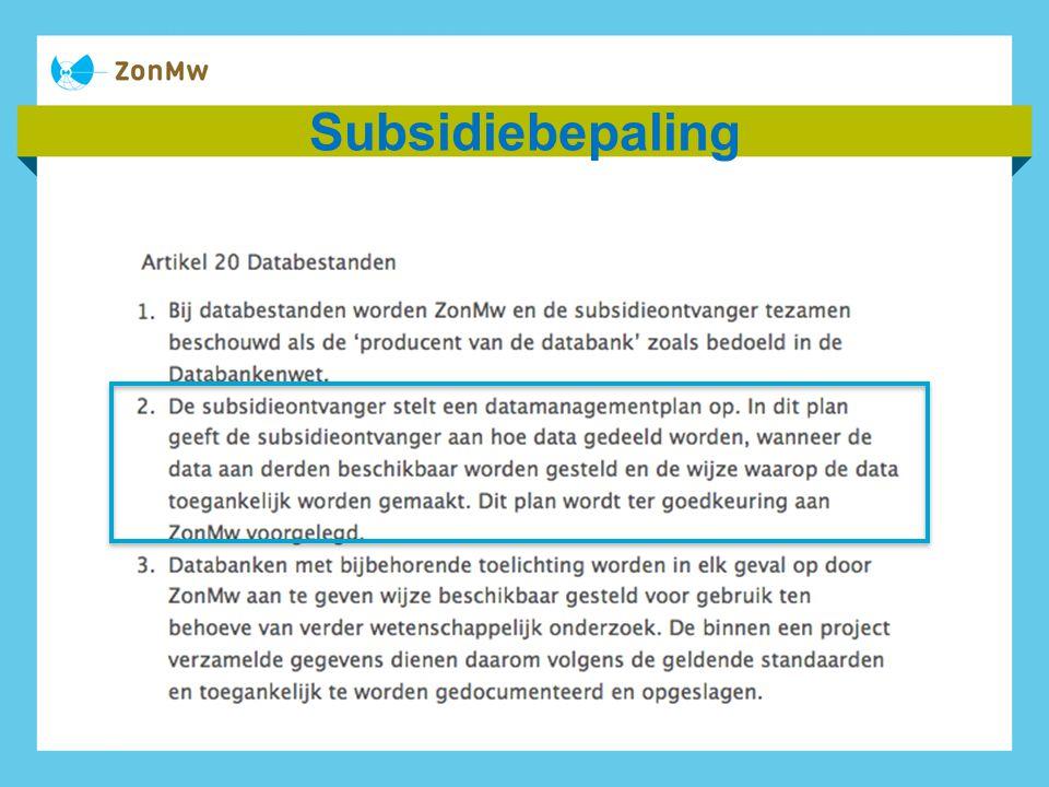 Subsidiebepaling