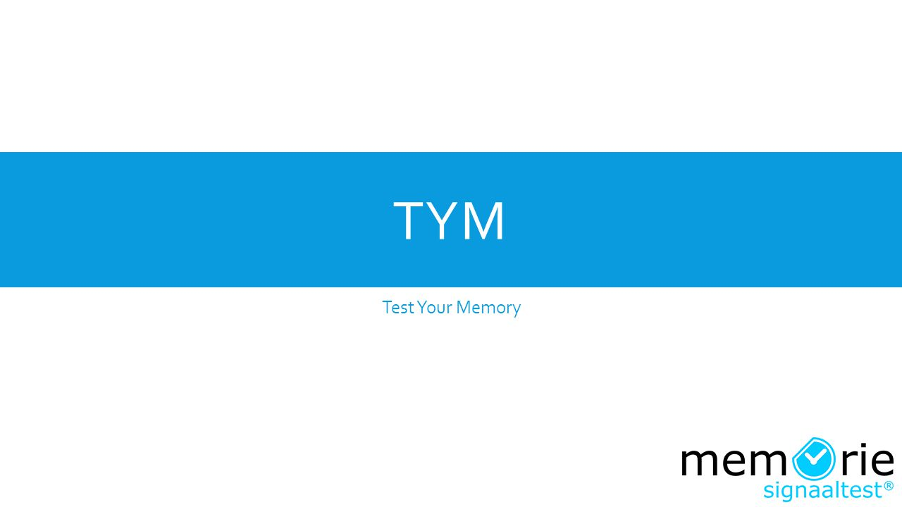 TYM Test Your Memory