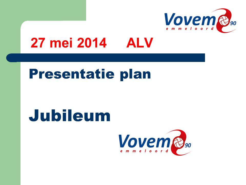 27 mei 2014 ALV Presentatie plan Jubileum