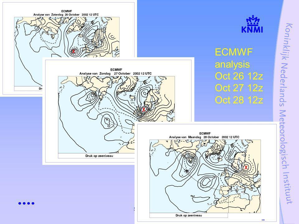 Stormcase 27 oktober 200226 Highest windmaxima ( weather-balloon-actuals) Oct 27th 1200 UTC