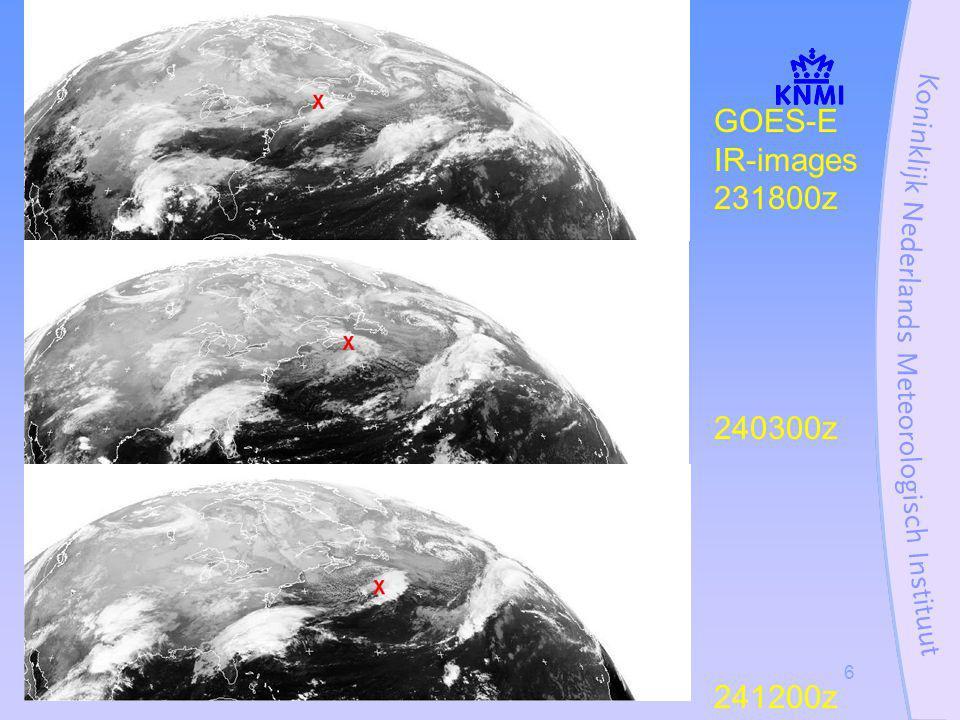 Stormcase 27 oktober 20026 GOES-E IR-images 231800z 240300z 241200z
