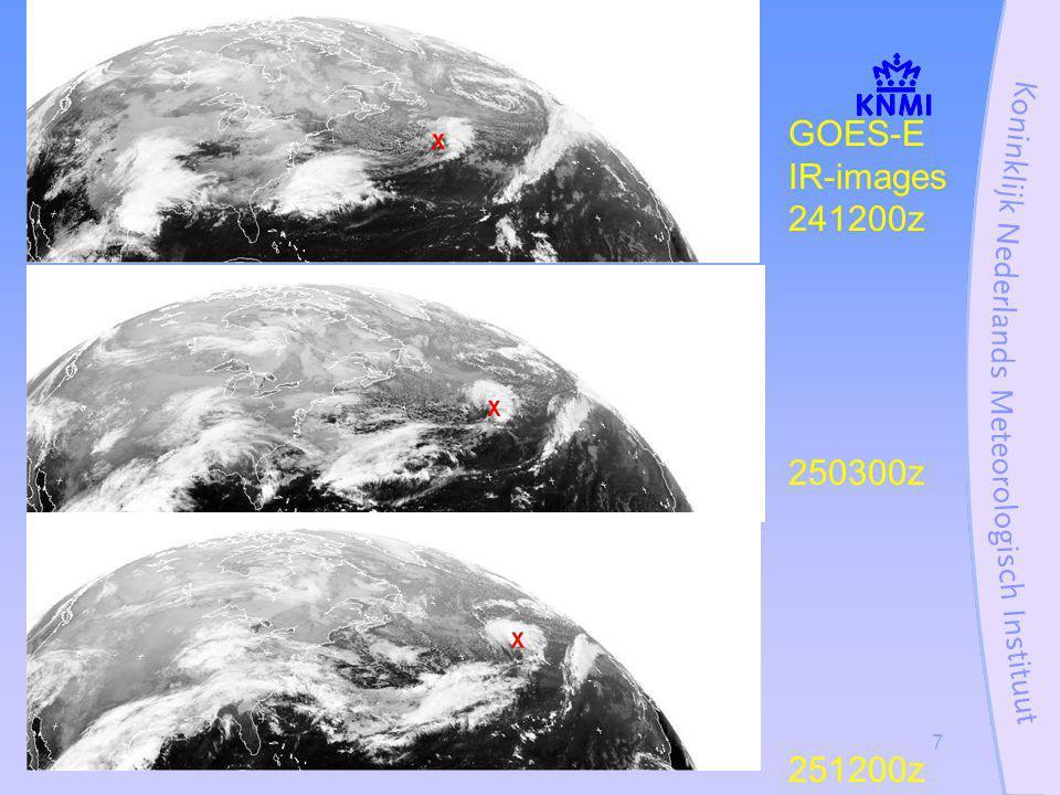Stormcase 27 oktober 20027 GOES-E IR-images 241200z 250300z 251200z