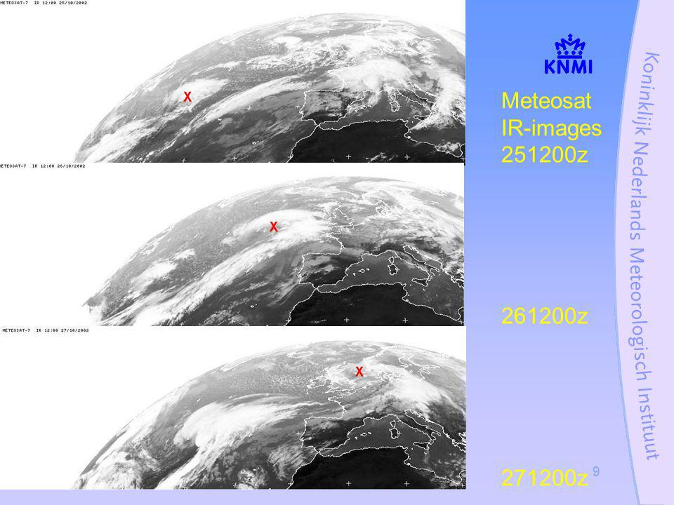 Stormcase 27 oktober 200240 Special warnings issued to Coastguard and Air- TrafficControl