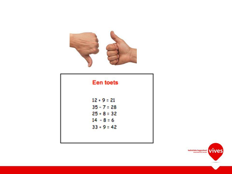 Evaluatie-opgaven rubriceren volgens Miller WetenWeten hoeTonenDoenTotaal % Examenvraag 1X5% Examenvraag 2XX10% OpdrachtXX50% Mondeling examenXXX100%