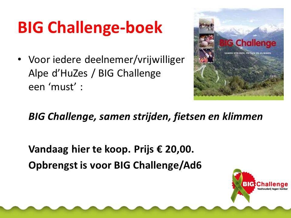 BIG Challenge-boek Voor iedere deelnemer/vrijwilliger Alpe d'HuZes / BIG Challenge een 'must' : BIG Challenge, samen strijden, fietsen en klimmen Vand