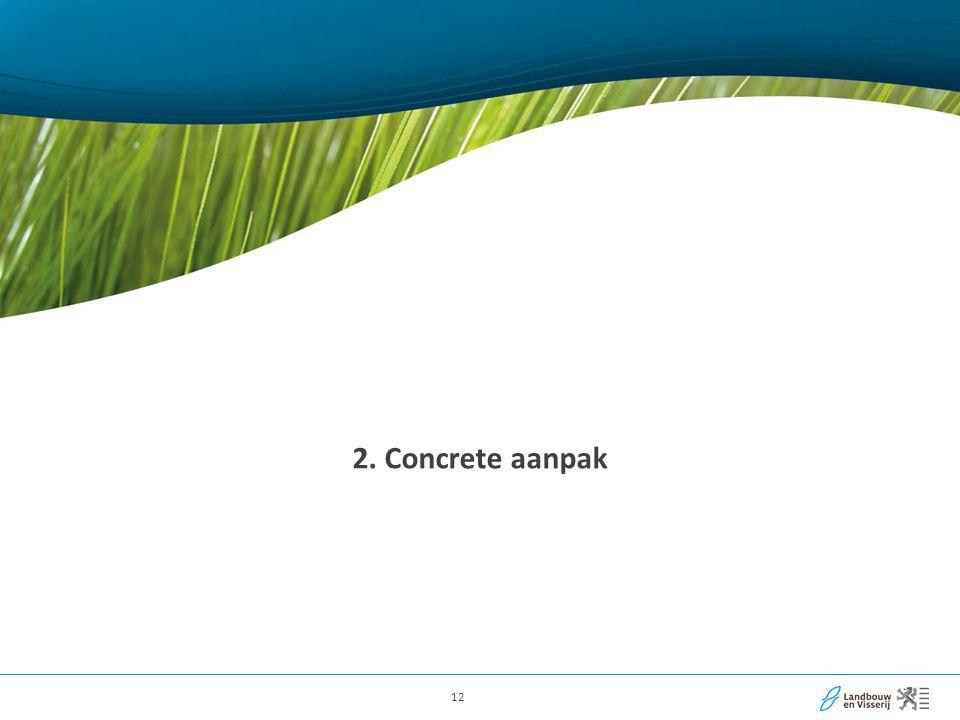 12 2. Concrete aanpak
