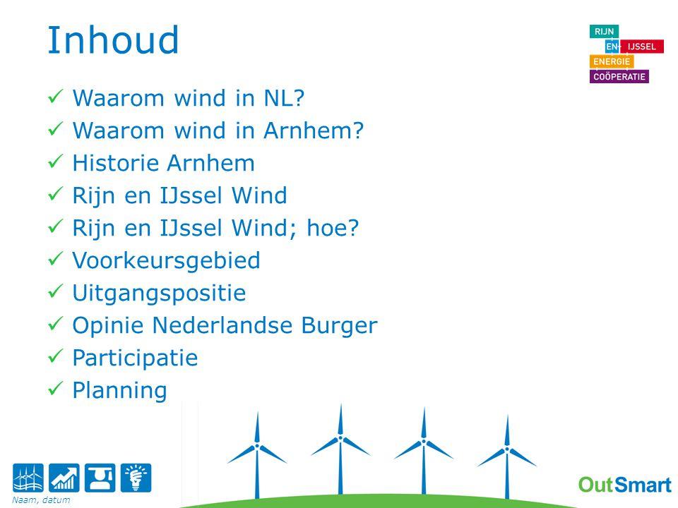 Waarom wind: Nederland Groene stroom = goed voor het milieu.