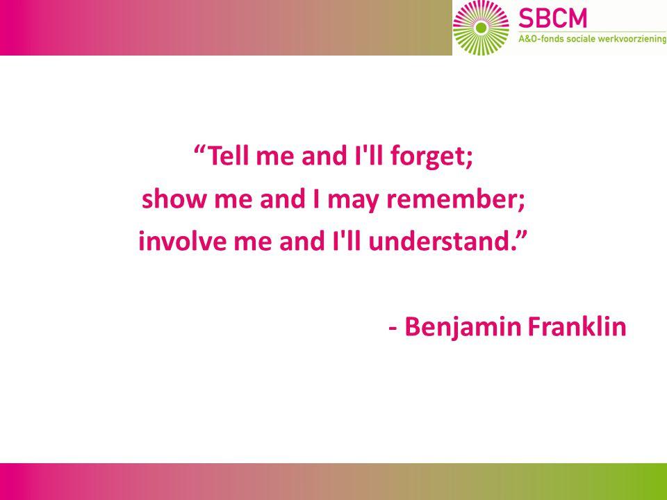 E-learning (1) Deelnemer ervaart de situatie en ontvangt direct feedback.