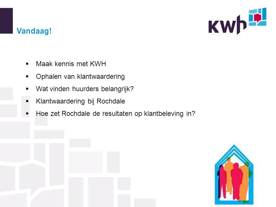 Vandaag. Maak kennis met KWH  Ophalen van klantwaardering  Wat vinden huurders belangrijk.