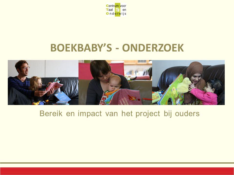 BOEKBABY'S - ONDERZOEK Bereik en impact van het project bij ouders