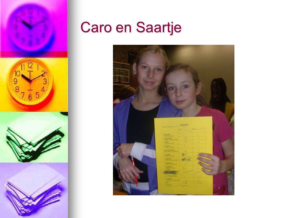 Caro en Saartje