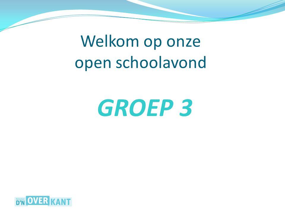 Welkom op onze open schoolavond GROEP 3