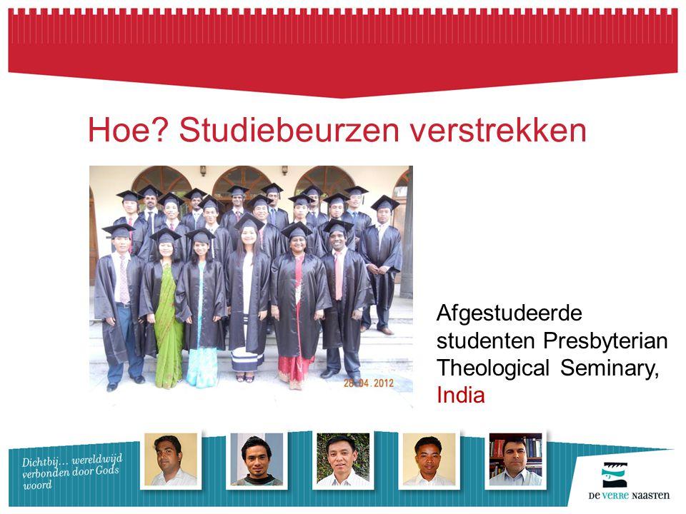 Hoe Studiebeurzen verstrekken Afgestudeerde studenten Presbyterian Theological Seminary, India