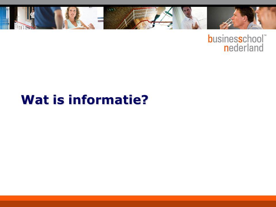 Wat is informatie?